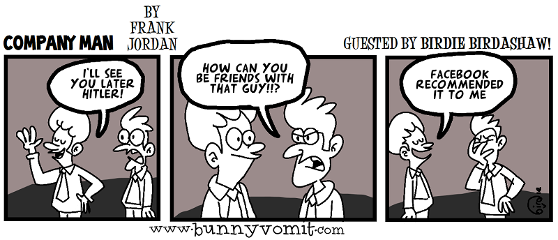 Surprise! It's a guest strip by Birdie Birdashaw! 1/17/14
